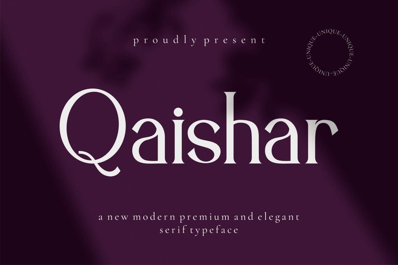 Qaishar - Serif Font Font
