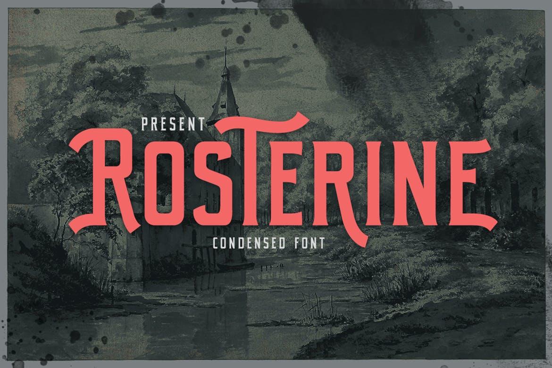 Rosterine - Condensed Font Font