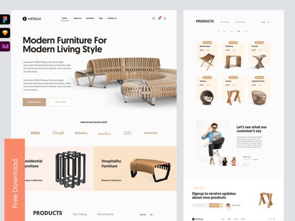 Mistrium: Free forniture shop template