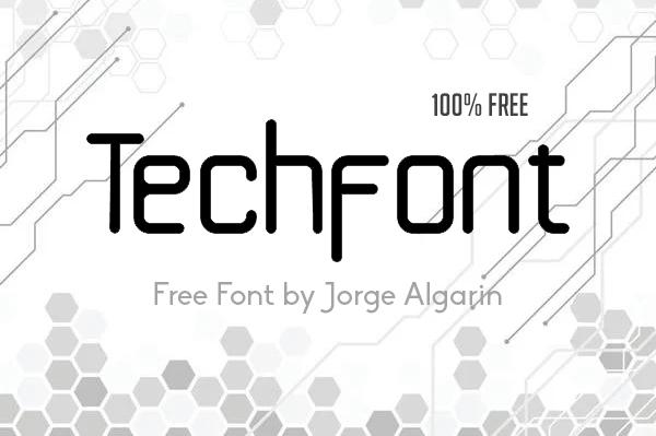 Techfont Free Font
