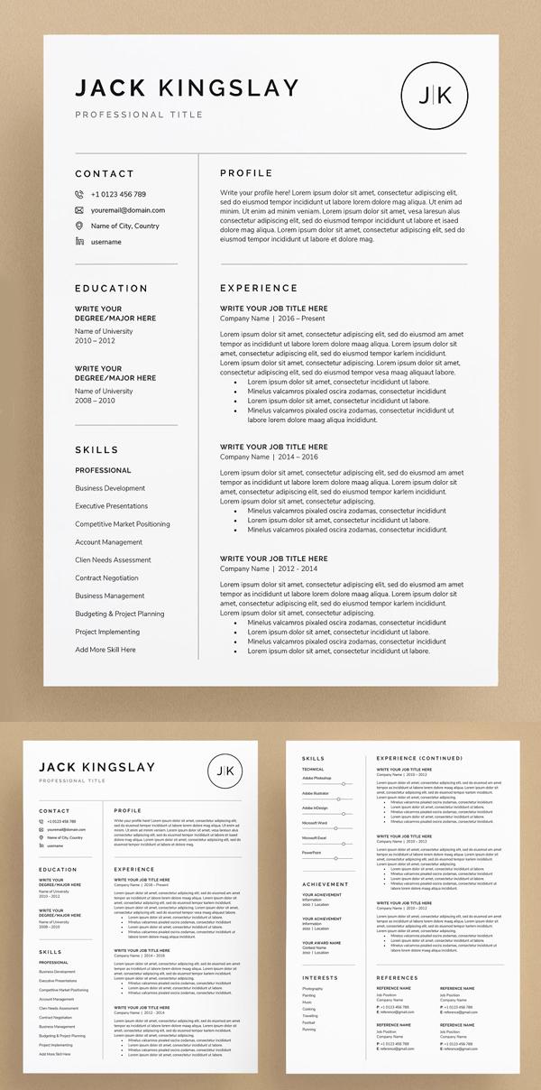 JK Resume / CV Template