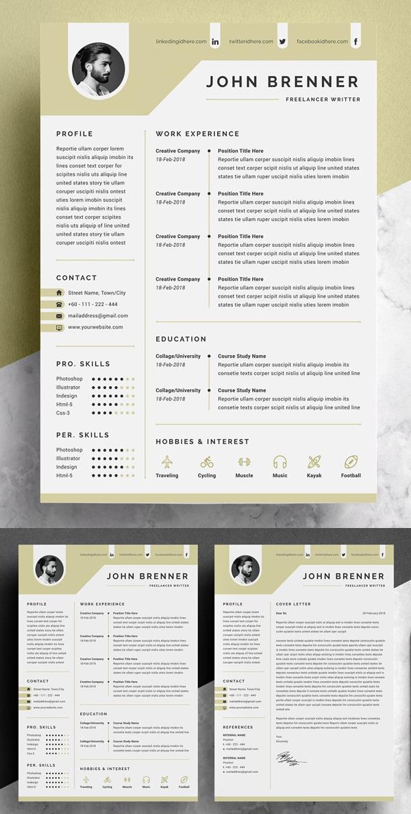Elegant Minimal Resume Template