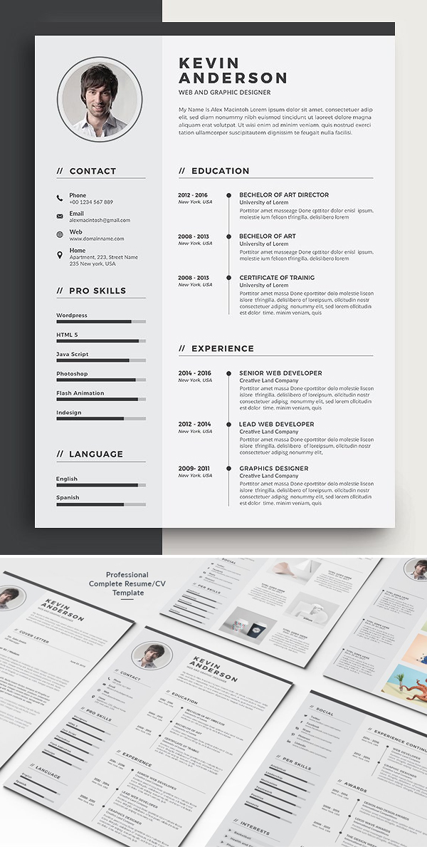 Professional 5 Pages Word Resume Template