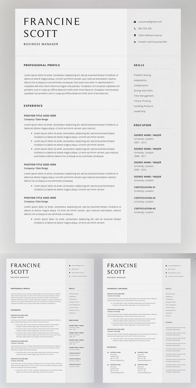Simple Clean Resume Template
