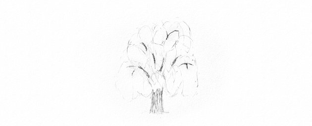 How to Draw a Tree Easy Tutorial shading weeping willow tree trunk drawing