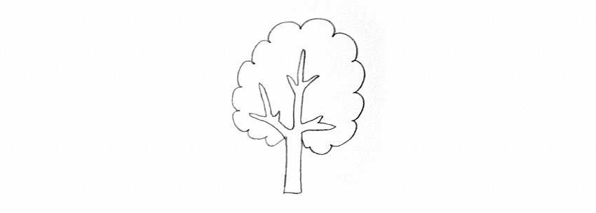 how to draw trees tutorial too simple