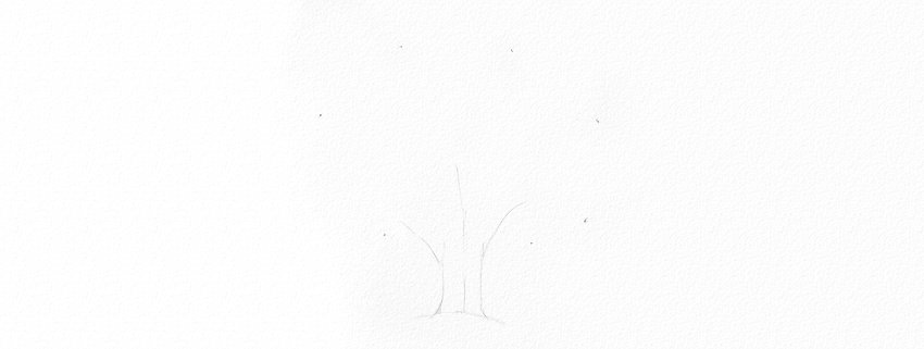 How to Draw a Tree Easy Tutorial oak tree branches drawing