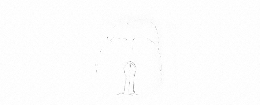 How to Draw Trees Tutorial weeping willow tree trunk drawing
