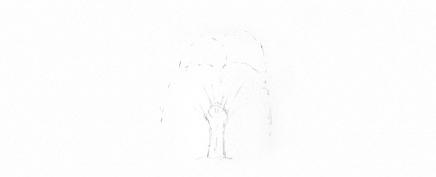 How to Draw a Tree Easy Tutorial weeping willow tree branches drawing
