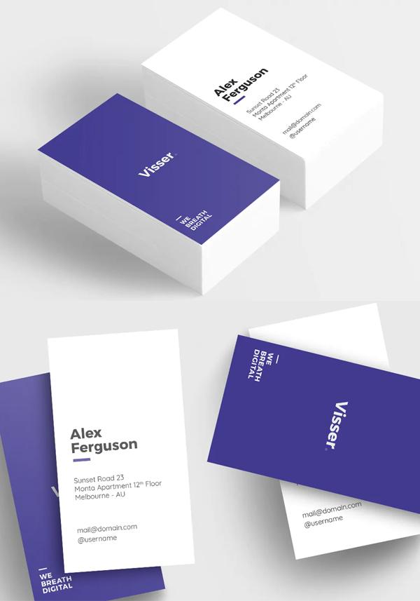 Visser Minimal Business Card