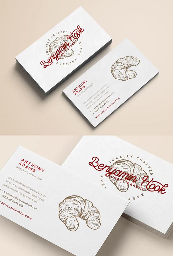 Bakery Minimal Business Card