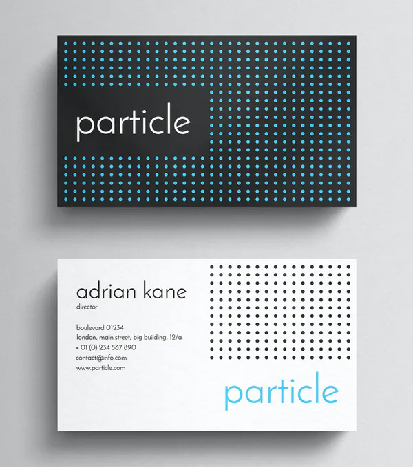 Particle Minimal Business Card Template