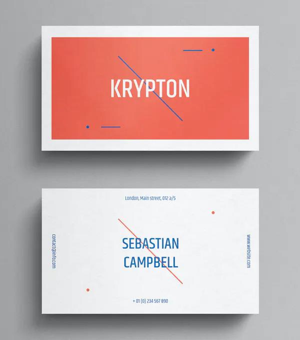 Super Minimal Business Card Template