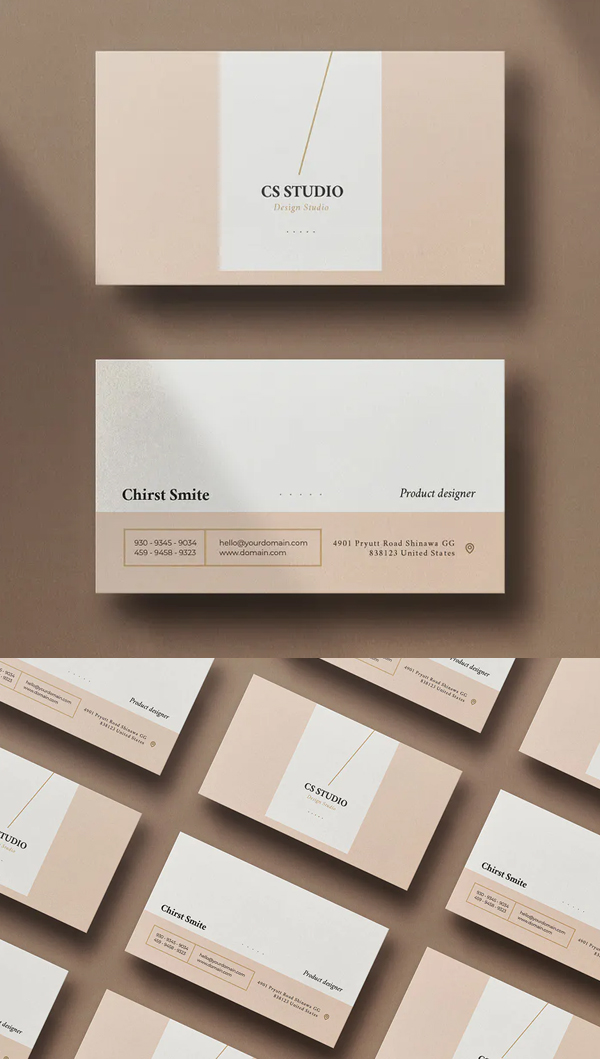 Trendy Minimal Business Card