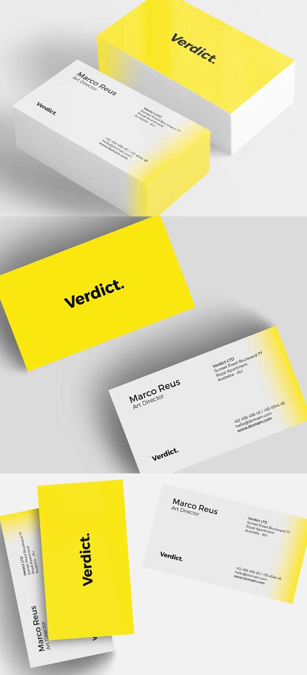 Yellow Minimal Business Card
